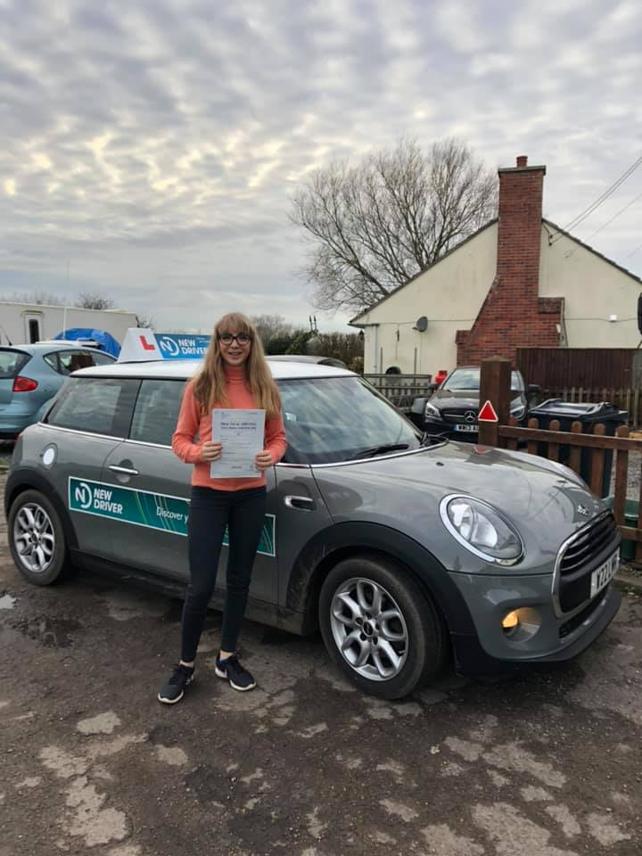 Reason to drive driving instructor customer review Jan 2019. Picture of Florence Human with Lauren Reason ADI's Mini